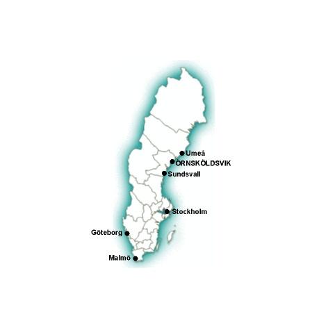 Nola Motion Sverigekarta