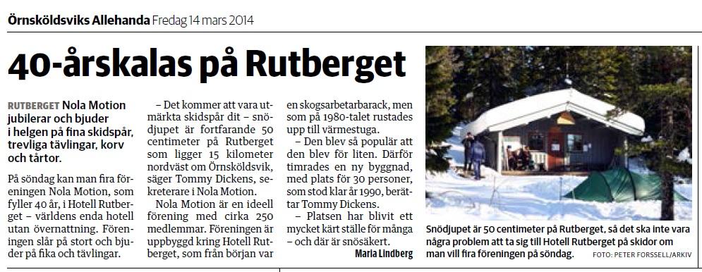 40-årskalas på Rutberget