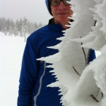 Bengt Larsson bland iskristaller